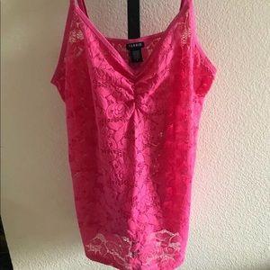 EUC Torrid Pink Lace Foxy Cami Size 4X